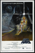 "Movie Posters:Science Fiction, Star Wars (20th Century Fox, 1977). One Sheet (27"" X 41""). Style""A."" This gorgeous poster featuring Luke Skywalker and Prin..."