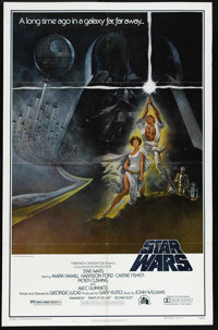 """Star Wars (20th Century Fox, 1977). One Sheet (27"""" X 41""""). Style """"A."""" This gorgeous poster featuring..."""