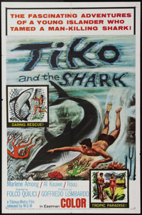 """Tiko and the Shark (MGM, 1963). One Sheet (27"""" X 41""""). Al Kourve and Marlene Among star in this fishy twist on..."""