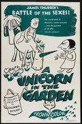 """Movie Posters:Animated, A Unicorn in the Garden (Columbia, 1953). One Sheet (27"""" X 41"""").This animated tale takes sides in the timeless battle of th..."""