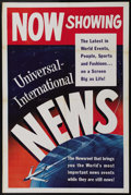 "Movie Posters:Short Subject, Universal-International Newsreel Stock (Universal International,1950s). One Sheet (27"" X 41""). Before the days of the eveni..."