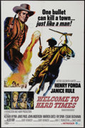 "Movie Posters:Western, Welcome to Hard Times (MGM, 1967). One Sheet (27"" X 41""). Henry Fonda stars as a mayor who doesn't stand up to a stranger wh..."