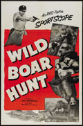"""Movie Posters:Short Subject, Wild Boar Hunt (RKO, 1953). One Sheet (27"""" X 41""""). Throughout the1940s and 1950s, RKO-Pathe produced several educational sh..."""