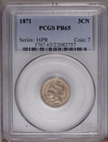 Proof Three Cent Nickels: , 1871 3CN PR65 PCGS. PCGS Population (80/20). NGC Census: (89/40).Mintage: 960. Numismedia Wsl. Price: $975. (#3767)...