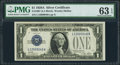 Small Size:Silver Certificates, Fr. 1601 $1 1928A Silver Certificate. PMG Choice Uncirculated 63 EPQ.. ...