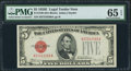 Small Size:Legal Tender Notes, Fr. 1530 $5 1928E Legal Tender Note. PMG Gem Uncirculated 65 EPQ.. ...