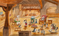 Animation Art:Production Drawing, Frank Follmer Pinocchio Painting (Walt Disney, undated)....