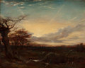 Fine Art - Painting, European:Antique  (Pre 1900), George Richmond (British, 1809-1896). Autumn Sunset (Sunset seenfrom Hyde Park). Oil on panel. 13-3/4 x 17-1/4 inches (...