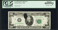 Error Notes:Ink Smears, Fr. 2072-H $20 1977 Federal Reserve Note. PCGS Gem New 65PPQ.. ...