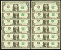 Small Size:Federal Reserve Notes, Complete District Set Fr. 1913-A-L $1 1985 Federal Reserve Notes Choice Crisp Uncirculated.. ... (Total: 12 notes)