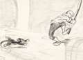 Animation Art:Production Drawing, Pinocchio Geppetto and Figaro Storyboard (Walt Disney,1940)....