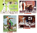 Animation Art:Poster, 101 Dalmatians Complete Lobby Card Set (Walt Disney,1969).... (Total: 10 Items)