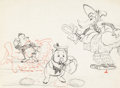 Animation Art:Production Drawing, The Three Little Wolves Layout Drawing (Walt Disney,1936)....