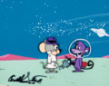 "Animation Art:Production Cel, The Quick Draw McGraw Show ""Outer Space Case"" Blabber Mouseand Space Monkey Production Cel Setup and Master Productio..."