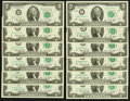 Complete District Star Set Fr. 1935-A*-L* $2 1976 Federal Reserve Star Notes Choice Crisp Uncirculated or Better
