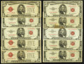 Small Size:Legal Tender Notes, A Selection of Ten $5 Legal Tender Notes. Fine or Better.. ... (Total: 10 notes)