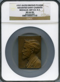 20th Century Tokens and Medals, 1937 Augustus Saint-Gaudens, Medallic Art Co. N.Y, MS66 BrownNGC....