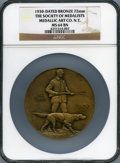 20th Century Tokens and Medals, 1930 Society of Medallists, Medallic Art Co. N.Y., MS64 BrownNGC....
