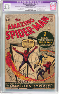 The Amazing Spider-Man #1 (Marvel, 1963) CGC Apparent VG- 3.5 Slight to moderate (C-2) Cream to off-white pages