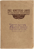Books:Americana & American History, George S. Clason. Free Homestead Lands of Colorado Described. AHandbook for Settlers. Denver, Colo.: The Clason...