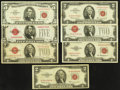 Small Size:Legal Tender Notes, $2 and $5 Legals Fine or Better.. ... (Total: 7 notes)