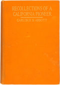 Books:Biography & Memoir, Carlisle S. Abbott. Recollections of a California Pioneer.New York: The Neale Publishing Company, 1917....