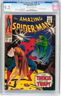 The Amazing Spider-Man #54 (Marvel, 1967) CGC NM- 9.2 Off-white to white pages