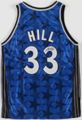 Basketball Collectibles:Uniforms, Grant Hill Signed Orlando Magic Jersey....
