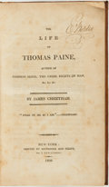 Books:Biography & Memoir, James Cheetham. The Life of Thomas Paine, Author of CommonSense, The Crisis, Rights of Man, &c. &c.&c.....