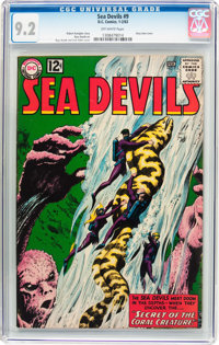 Sea Devils #9 (DC, 1963) CGC NM- 9.2 Off-white pages