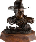 Movie/TV Memorabilia:Original Art, A John Wayne Limited Edition Sculpture by Robert Summers, 1980....