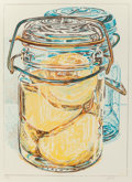 Prints, Janet I. Fish (American, b. 1938). Beall Jars, 1975. Lithograph in colors. 25-1/4 x 19 inches (64.1 x 48.3 cm) (image). ...