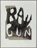 Prints, Claes Oldenburg (American, b. 1929). Thure Ray Gun. Lithograph in colors. 39-3/4 x 29-3/4 inches (101.0 x 75.6 cm) (shee...