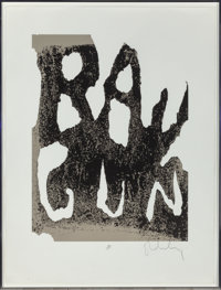 Claes Oldenburg (American, b. 1929) Thure Ray Gun Lithograph in colors 39-3/4 x 29-3/4 inches (10