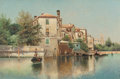 Fine Art - Painting, American:Antique  (Pre 1900), Henry Pember Smith (American, 1854-1907). On the Canal. Oilon canvas. 20-1/4 x 30 inches (51.4 x 76.2 cm). Signed lower...