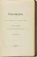 Books:Americana & American History, Frank Fossett. Colorado: A Historical, Descriptive andStatistical Work on the Rocky Mountain Gold and Silver MiningReg...
