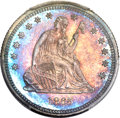 Proof Seated Quarters, 1865 25C PR66+ PCGS. CAC....