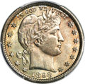 Barber Quarters, 1898 25C MS67 PCGS. CAC....