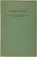Books:Biography & Memoir, [Mary Katherine Jackson English]. Prairie Sketches or FugitiveRecollections of an Army Girl of 1899. [N.p.], [n.d.,...