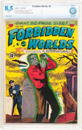 Golden Age (1938-1955):Horror, Forbidden Worlds #4 (ACG, 1952) CBCS VF+ 8.5 White pages.