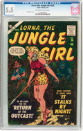 Silver Age (1956-1969):Adventure, Lorna The Jungle Girl #26 (Atlas, 1957) CGC FN- 5.5 Off-white to white pages....