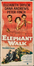 "Movie Posters:Adventure, Elephant Walk (Paramount, 1954). Three Sheet (41"" X 78"") &Lobby Card (11"" X 14""). Adventure.. ... (Total: 2 Items)"