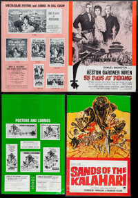 "55 Days at Peking & Others Lot (Allied Artists, 1963). Pressbooks (80) (Multiple Pages, 11""-17"" X 14""..."