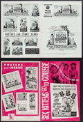 """Movie Posters:Exploitation, High School Confidential & Others Lot (MGM, 1958). UncutPressbooks (13) (Multiple Pages, 11"""" X 15.5"""" - 12"""" X 18"""").Exploita... (Total: 13 Items)"""