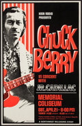 "Movie Posters:Rock and Roll, Chuck Berry at The Memorial Coliseum (Northwest Releasing, 1970s). Concert Window Card (14"" X 22""). Rock and Roll.. ..."