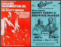 "Movie Posters:Rock and Roll, Grover Washington Jr. at the Portland Civic Auditorium & OtherLot (DoubleTee-Concerts, 1970s). Concert Posters (2) (11"" X 1...(Total: 2 Items)"