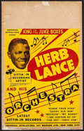 """Movie Posters:Musical, Herb Lance Orchestra (Universal Attractions, 1940s). Album Window Card (14"""" X 22""""). Musical.. ..."""