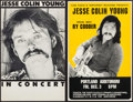 "Movie Posters:Rock and Roll, Jesse Colin Young Concert Poster Lot (Various, 1970s). ConcertWindow Cards (2) (approx. 14"" X 22""). Rock and Roll.. ... (Total: 2Items)"