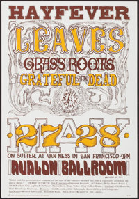 The Hayfever Show featuring The Leaves, Grass Roots & Grateful Dead at The Avalon Ballroom (Family Dog, 1966). Conce...