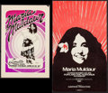 "Movie Posters:Rock and Roll, María Muldaur Concert Poster Lot (AWH, 1976). Concert Window Cards(2) (11.5"" X 17.25"" & 13"" X 21.5""). Rock and Roll.. ... (Total:2 Items)"